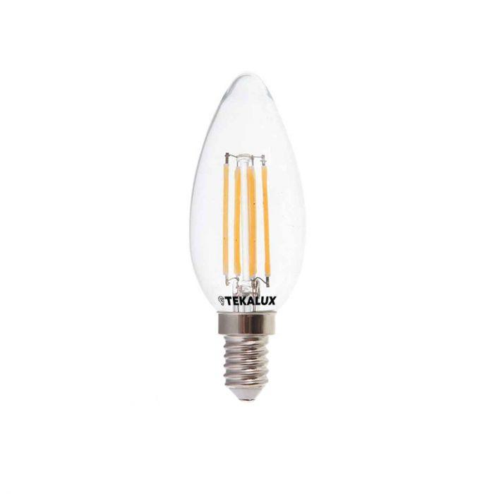 Tekalux Deco E14 LED kaarslamp 4w warm wit, dimbaar