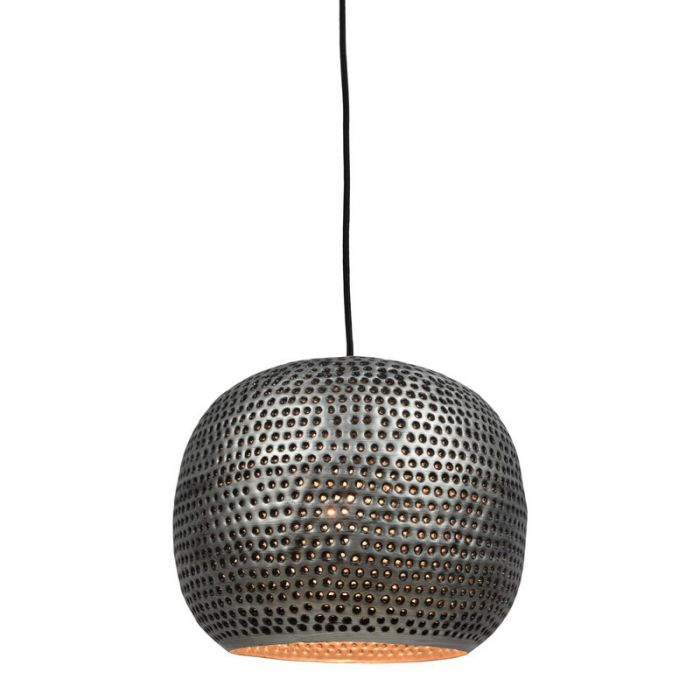 Landelijke hanglamp Lou, Bol, Zink