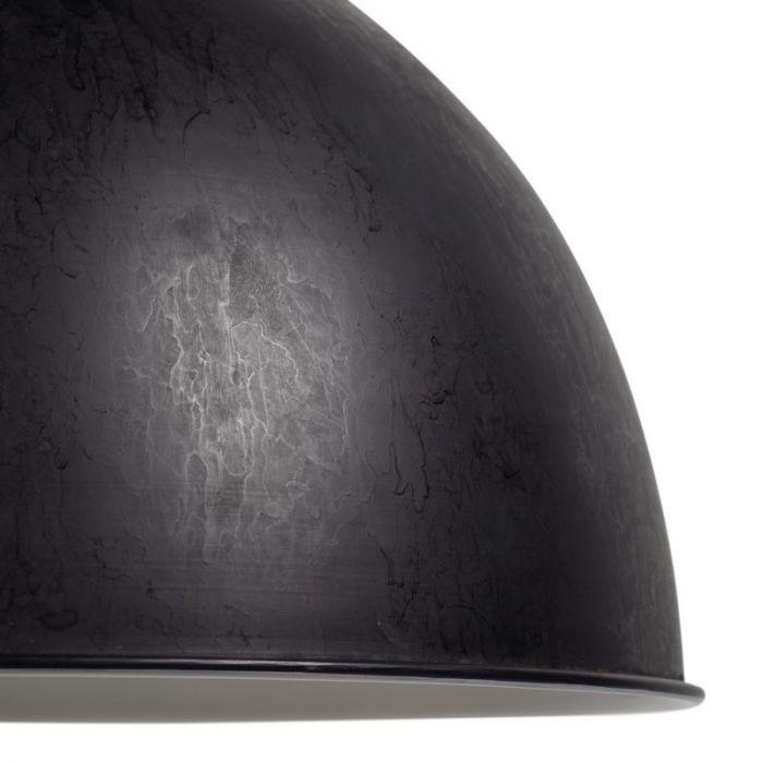 Industriële hanglamp Hazel, Ruig zwart