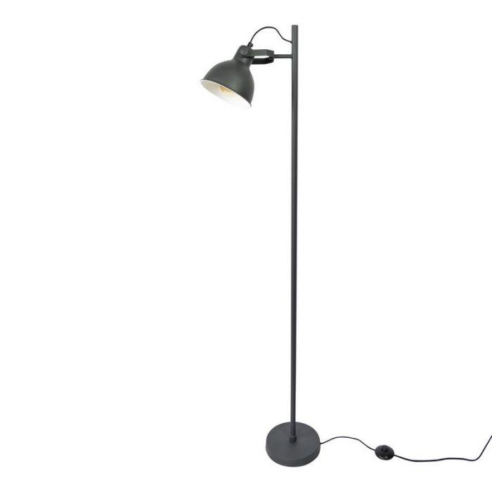 Industriële vloerlamp Belga, Vintage zwart