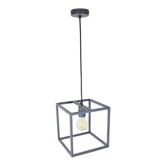 Industriële frame hanglamp Redox, Zwart