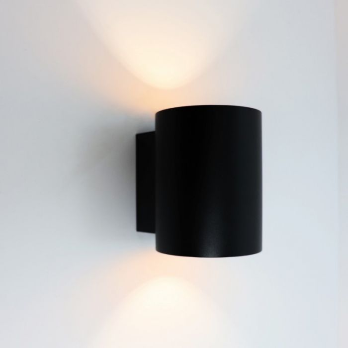 Dalila wandlamp rond - Zwart, modern