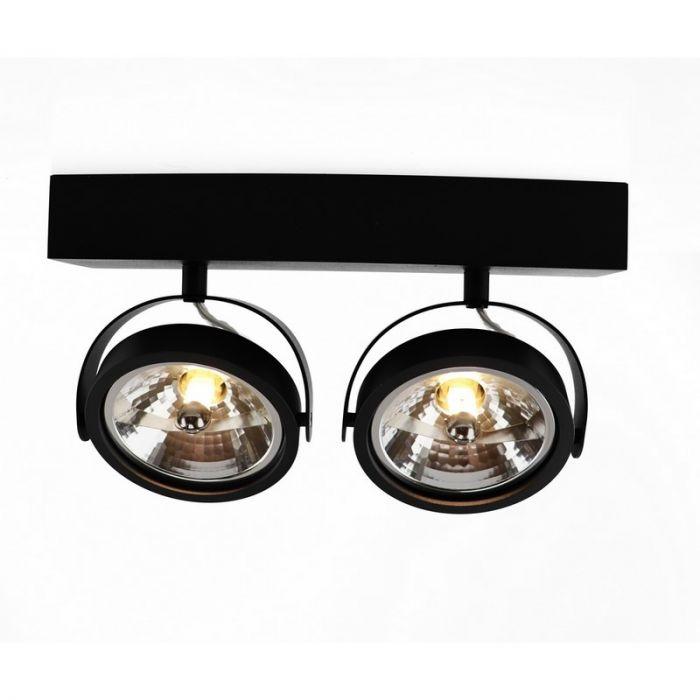 Moderne Plafondlamp - Wandlamp Melby, Zwart