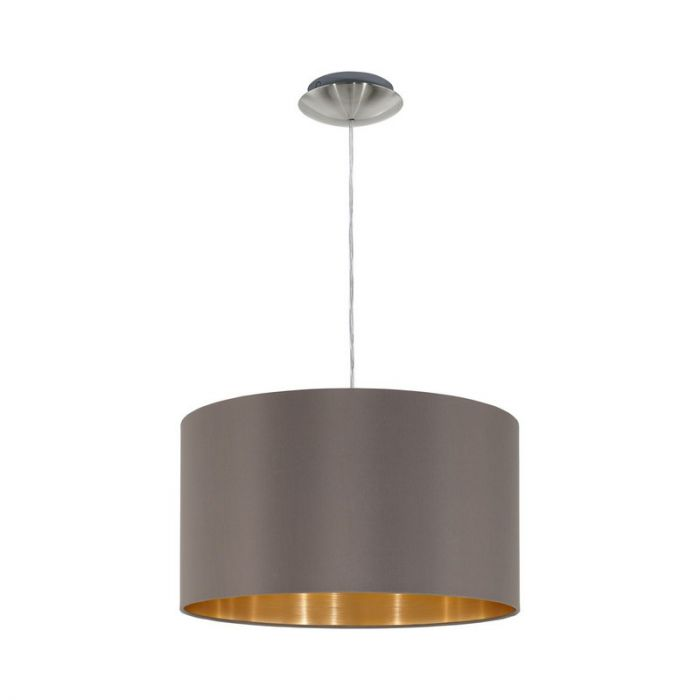 Luxe stoffen hanglamp Terme Grijs Goud