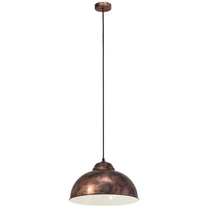 Landelijke hanglamp Liana Authentieke koper kleur