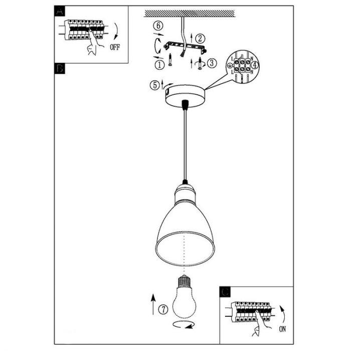 Lavinio koper hanglampje