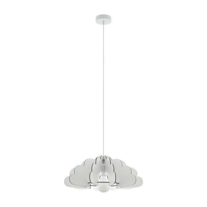 Stalen hanglamp Pia wit