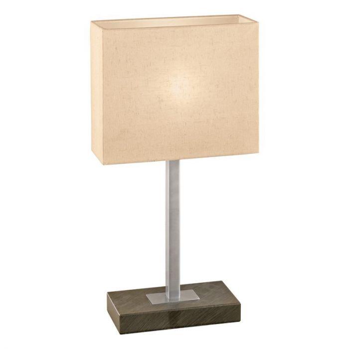 Rechthoekige tafellamp Ertegen Antiek bruine lampvoet