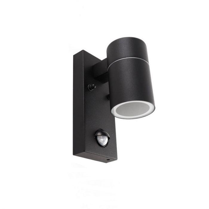 Zwarte buitenlamp Acco - Met bewegingssensor