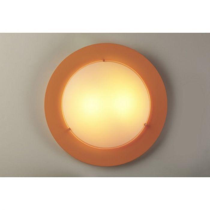 Oranje plafondlamp kinderkamer