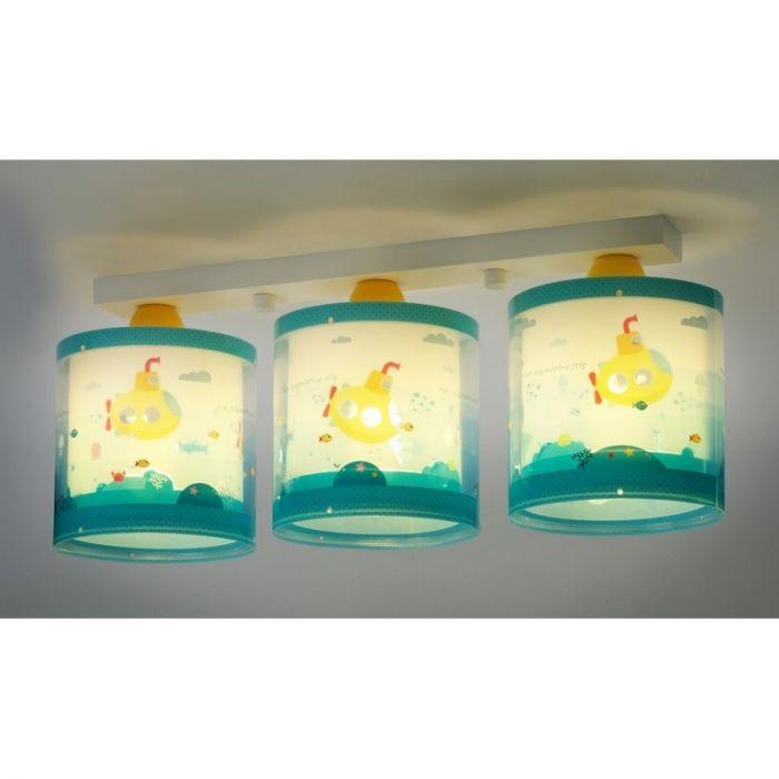 Waterleven plafondlamp - Blauw