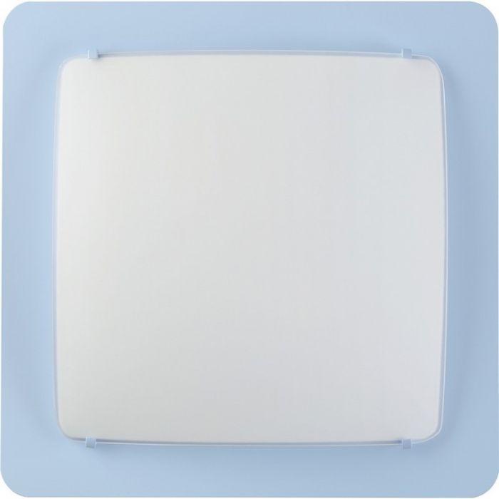 Blauwe plafonniere kinderkamer - Vierkant