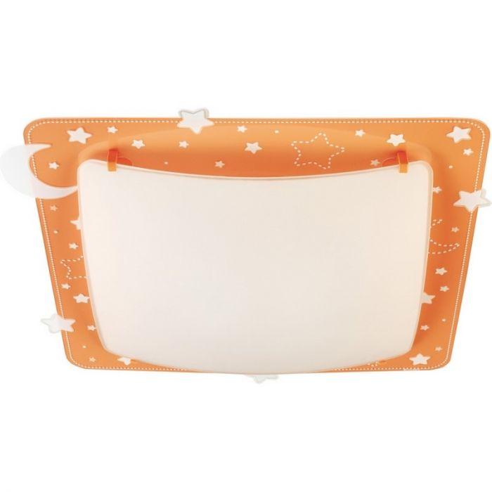 Oranje sterren plafondlamp kinderkamer