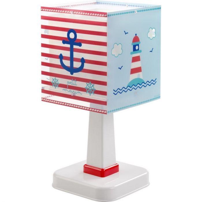Marine tafellamp kinderen - Blauw Rood