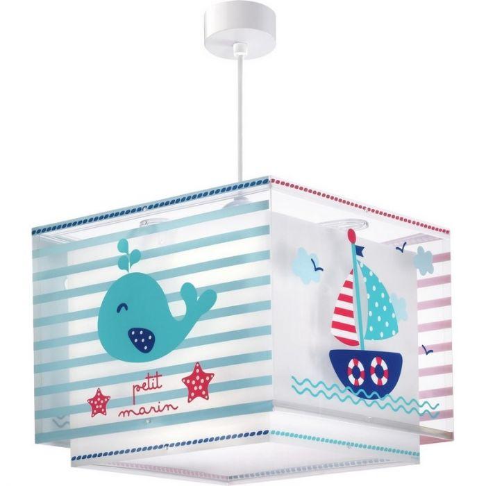 Marine hanglamp kinderen - Blauw Rood
