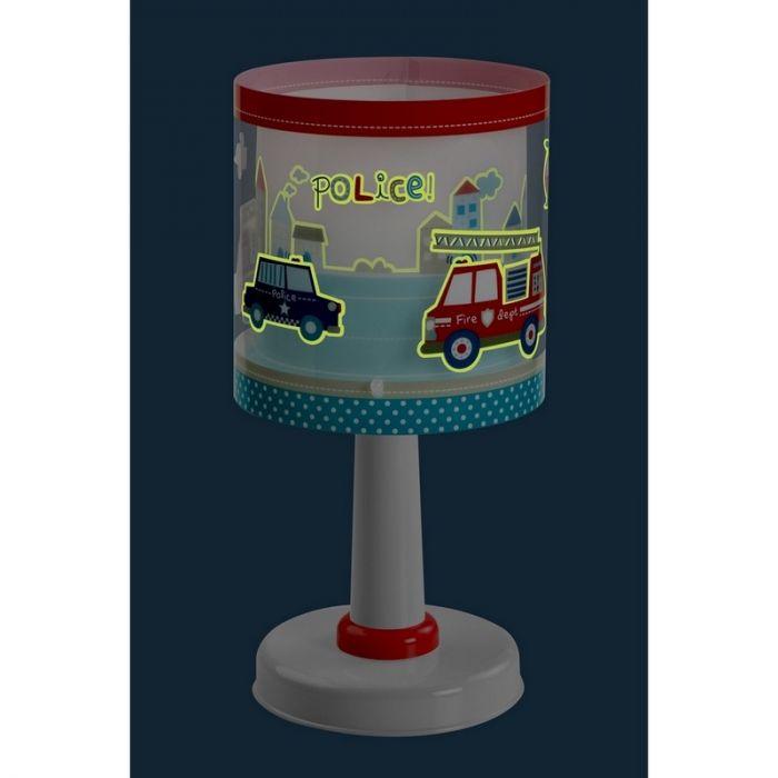 Politie tafellamp jongenskamer - Blauw Rood