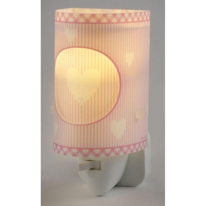 Hartjes stopcontact wandlamp Roze - Meisjeskamer