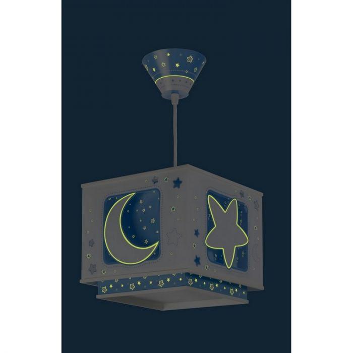 Hanglamp jongens babykamer Maan