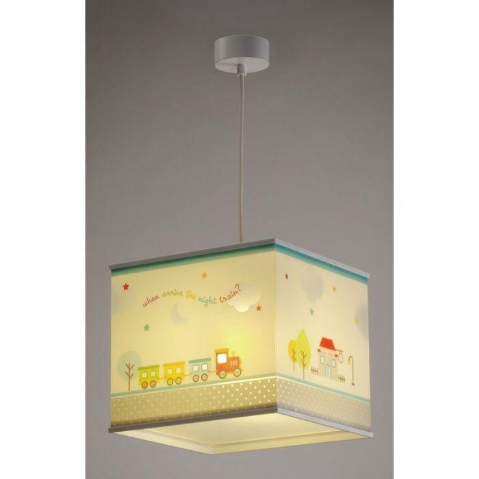 Treintje hanglamp babykamer