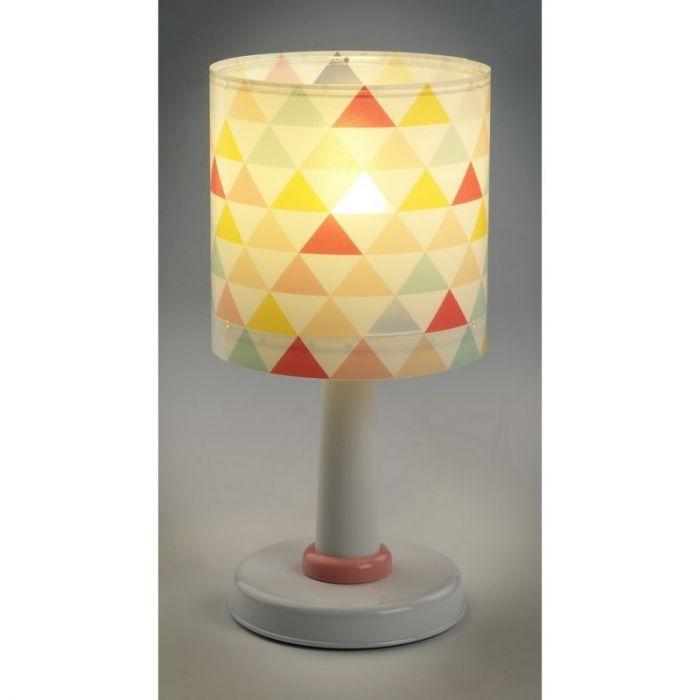 Meisjeskamer tafellamp Triangle - Roze