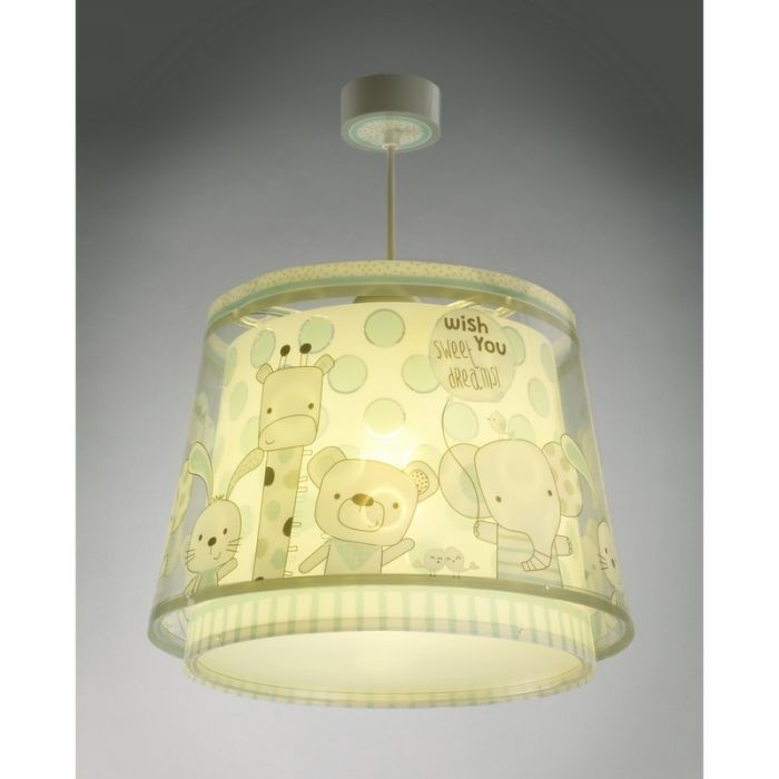 Babykamer hanglamp Beestenbende - Blauwgroen