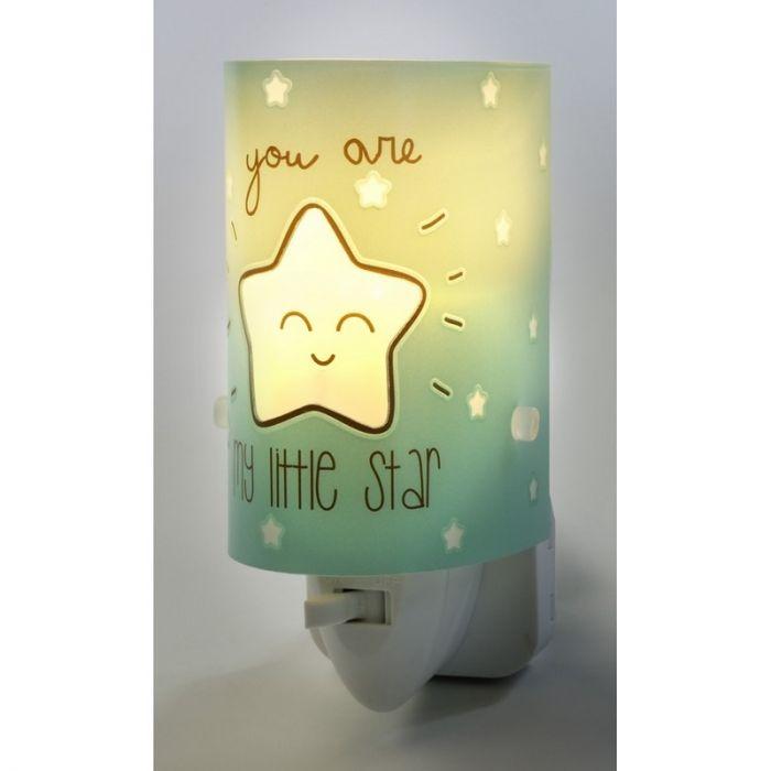Groene nachtlampje Star - Jongens babykamer