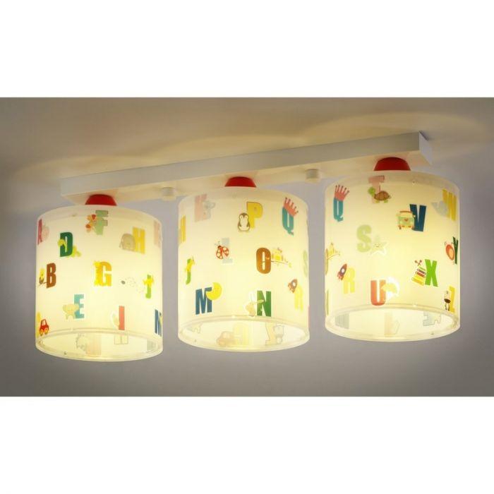 Kinder plafondlamp ABC