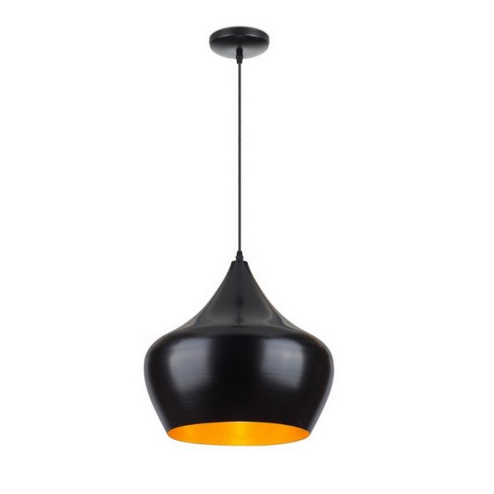 Moderne hanglamp Salina groot, zwart/goud