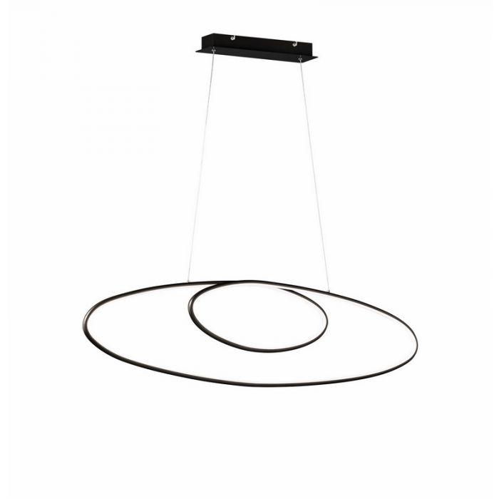 Zwarte hanglamp Adana, metaal, modern, 35 watt