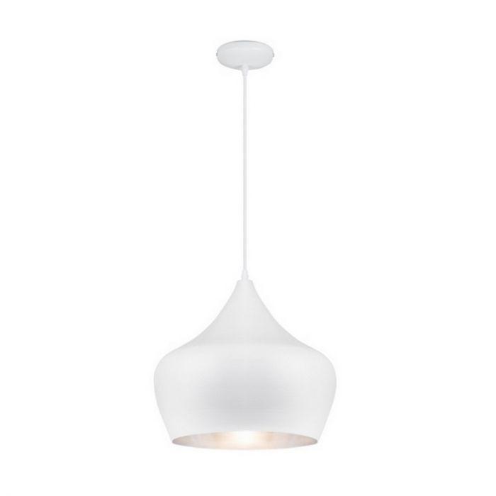 Grote hanglamp Salina modern, wit/zilver