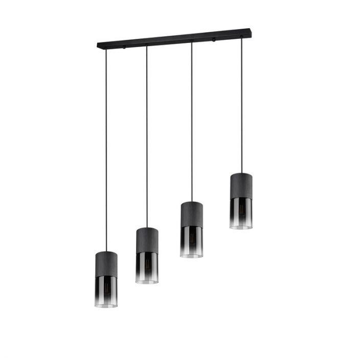 Zwarte hanglamp Amadi, metaal, modern