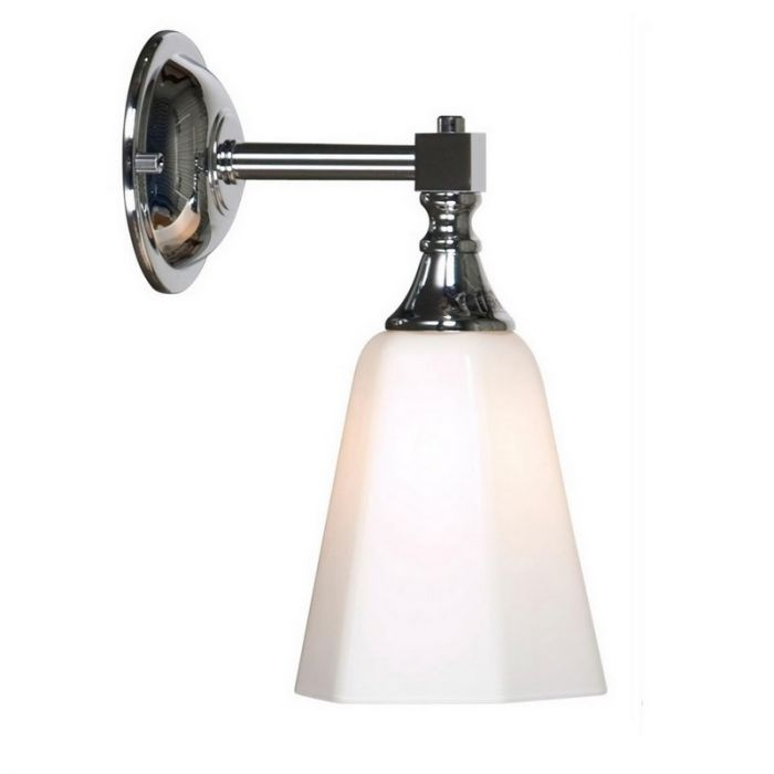 Klassieke wandlamp Delicia 02 chroom, badkamer