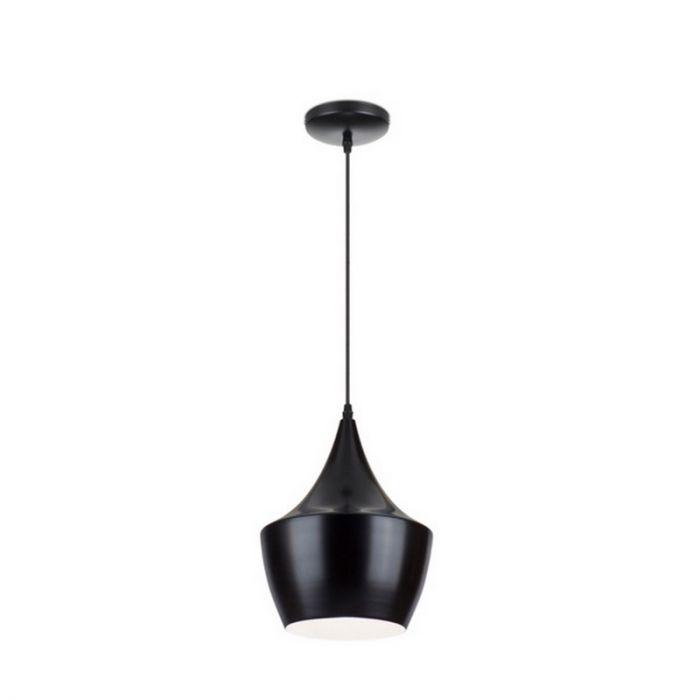 Kleine Salina hanglamp modern, zwart/wit
