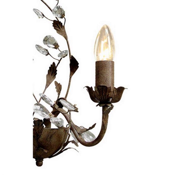 Roestkleurige Jeftha wandlamp, landelijk