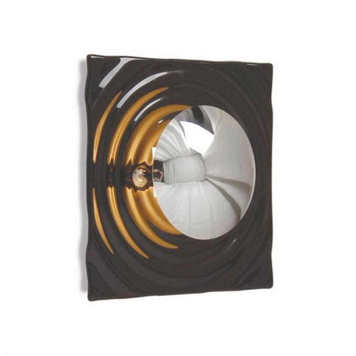 Moderne Louiza wandlamp, vierkant met cirkel