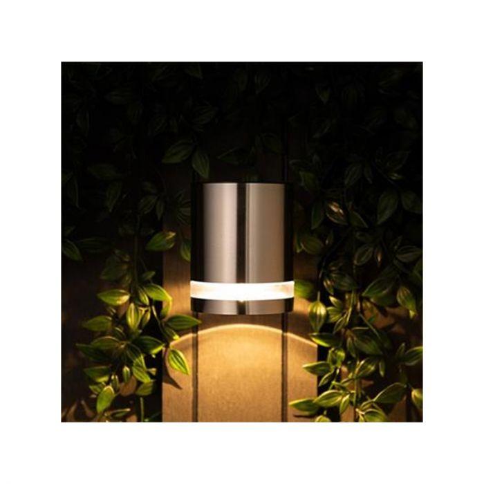 LED buiten wandlamp Gigi - Op zonne-energie, met rand