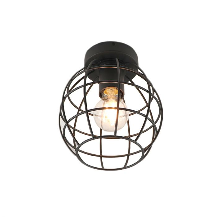 Industriële plafondlamp Jochem Bolvormig