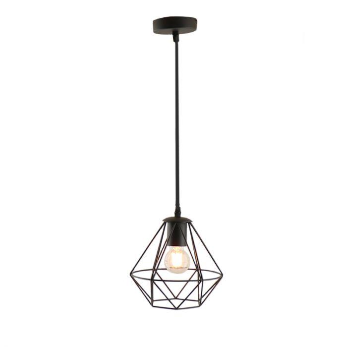 Stoere, industrie hanglamp Jochem, Gaaslook