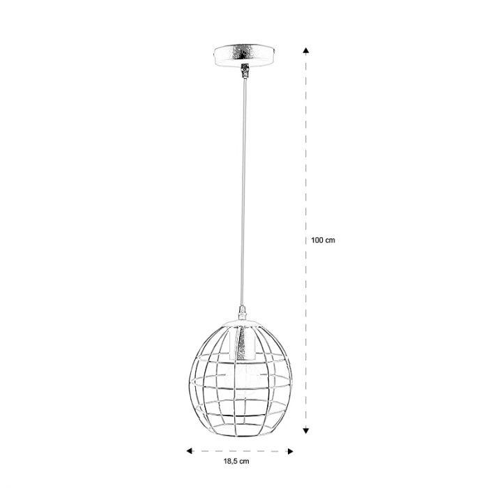 Industriële hanglamp Jochem Bolvormig