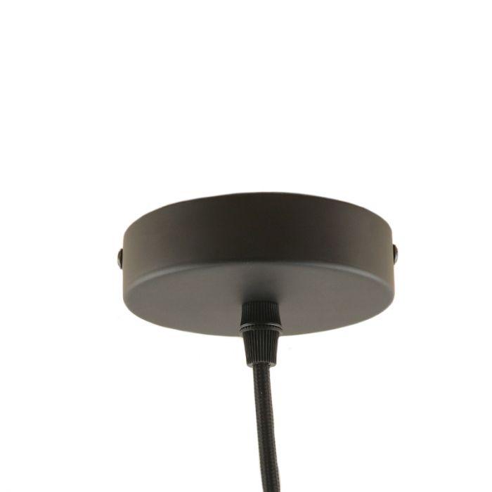 Zwarte ophangpendel Rika, metaal plafondkapje