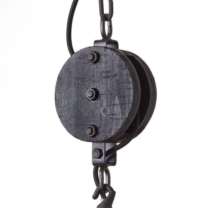 Industriële hanglamp Amy, zwart