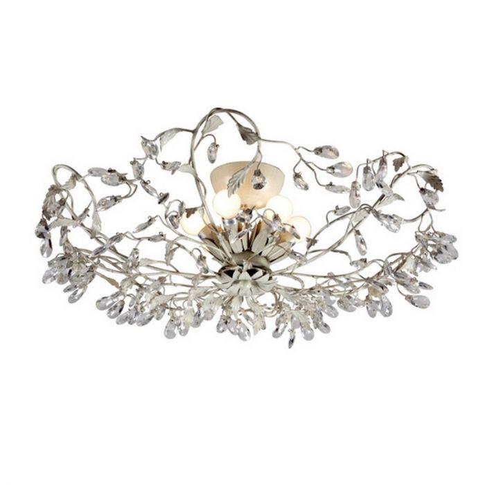 Sidney II design plafondlamp, grijs en beige
