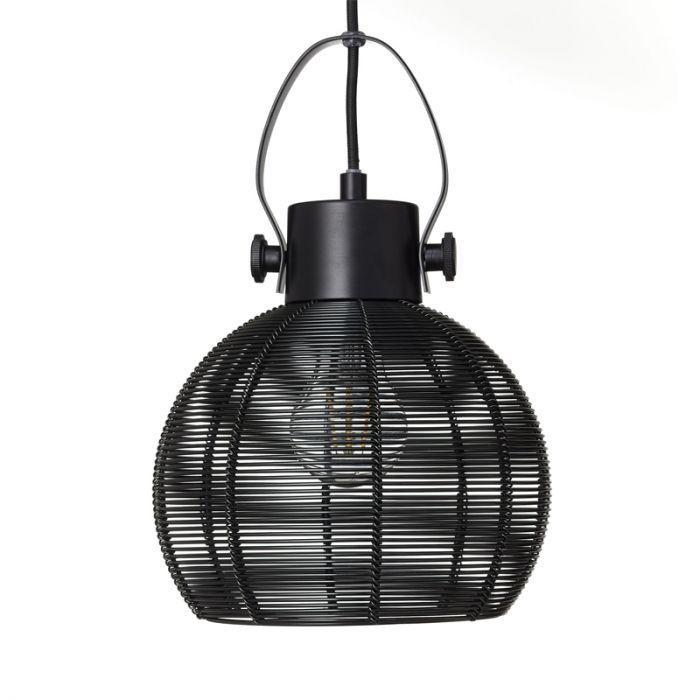 Moderne hanglamp Ayden, zwart