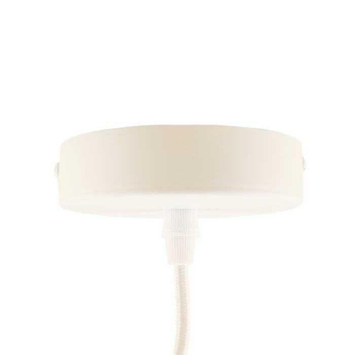 Witte ophangpendel Rika, metaal plafondkapje