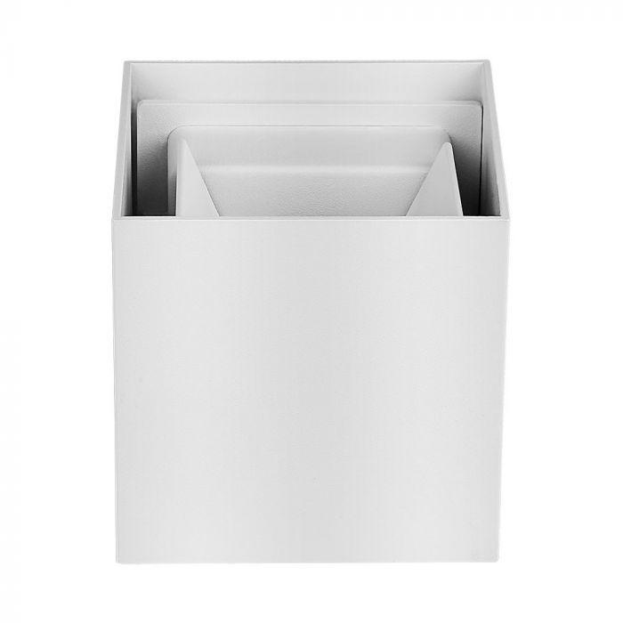 Witte up-down wandlamp Dion, 6w, warm wit, lichtstraal instelbaar, IP65