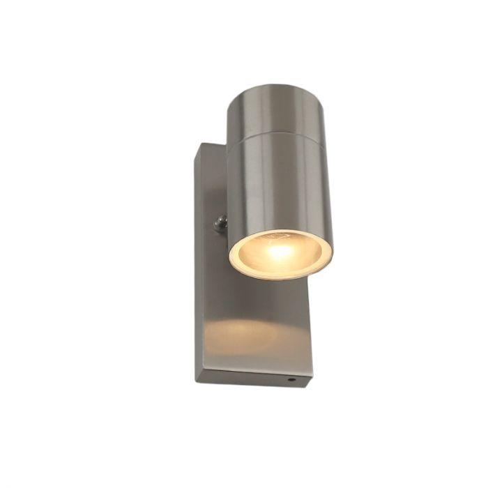 Buiten wandlamp met schemersensor Gerjo, roestvrij staal (rvs)