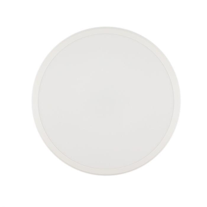 Moderne plafonniere Joachim, Mat wit, groot, met integreert LED