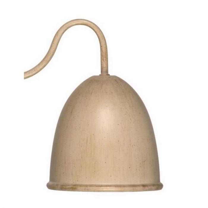 Giano landelijke wandlamp, creme/zilver