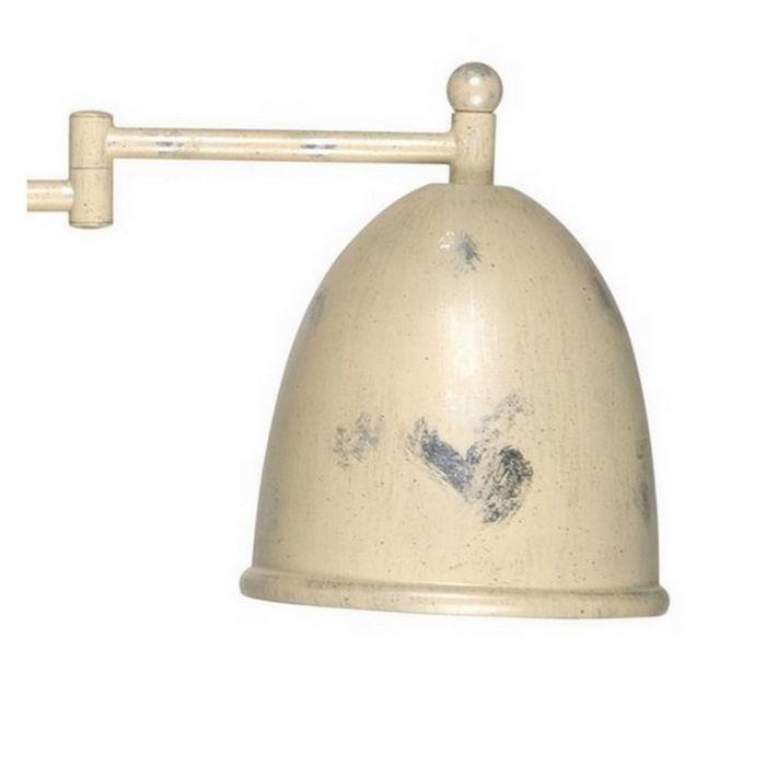 Landelijke wandlamp Giano II, creme/zilver