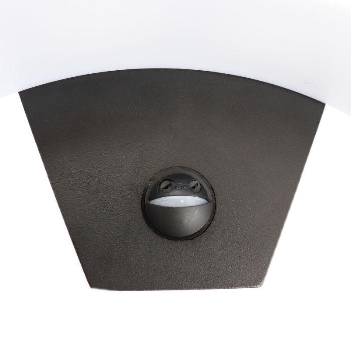 Zwarte buitenlamp Annemay met bewegingssensor, geïntegreerd LED